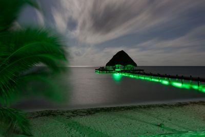 Green Lights on Dock