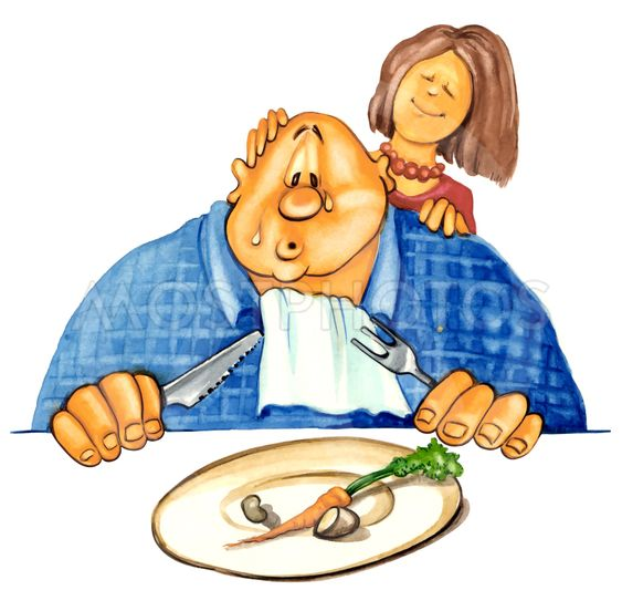 sad overweight guy on diet