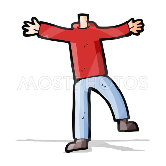 cartoon male gesturing body (mix and match cartoons or...