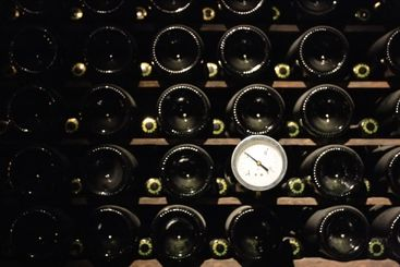 Thermometer in winecellar