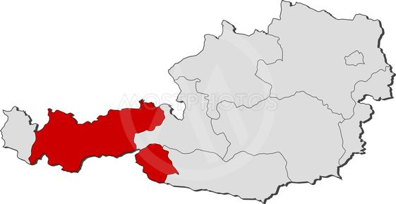 Kort Over Ostrig Tyrol Fre Fra Steffen Hammer Mostphotos
