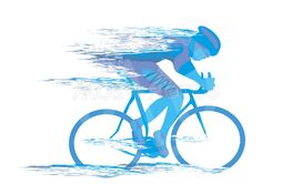 Cycling race stylized backgrond