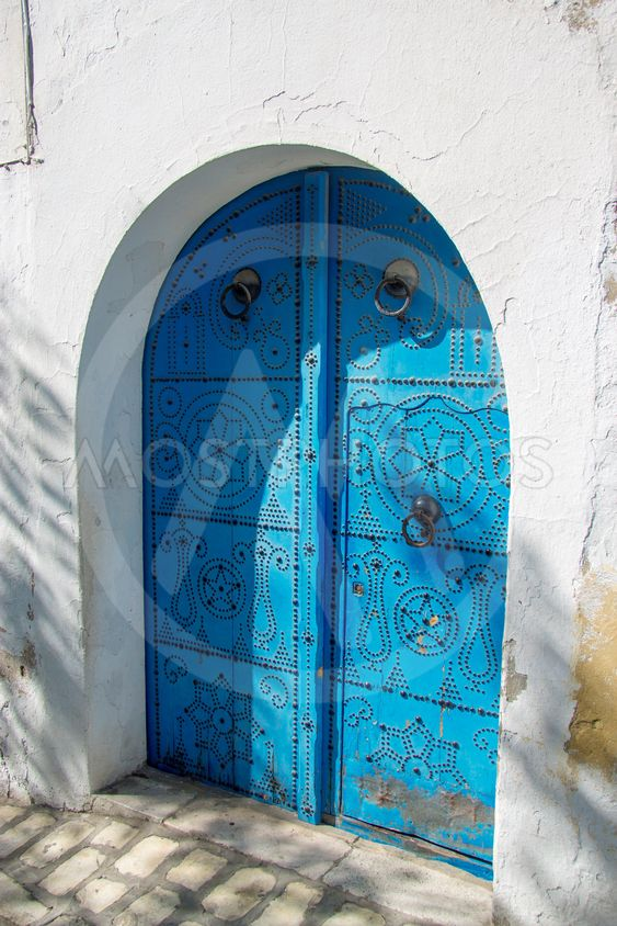 White and blue town Sidi Bou Said, Tunisia, North Africa
