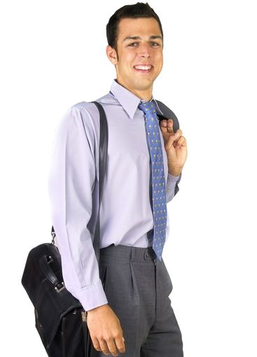 Business man with briefcase