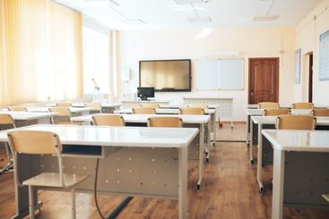 Empty school class during school holidays, back to...
