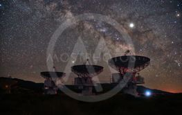 Time Lapse Long Exposure Image of the Milky Way Galaxy