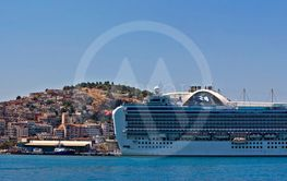KUSADASI TURKEY 22ND JULY 2015. Emerald Princess part of...