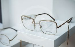 Chanel eyglasses in luxury fashion staore showroom