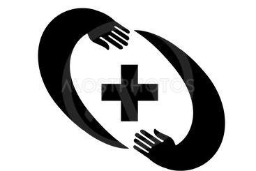 Medical pharmacy logo design template.