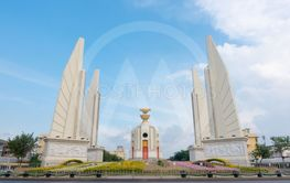 Democracy monument with blue sky in Bangkok Thailand