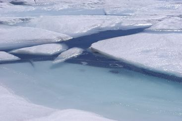 Blue Ice And Water