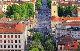 Bergamo lower town, Italy
