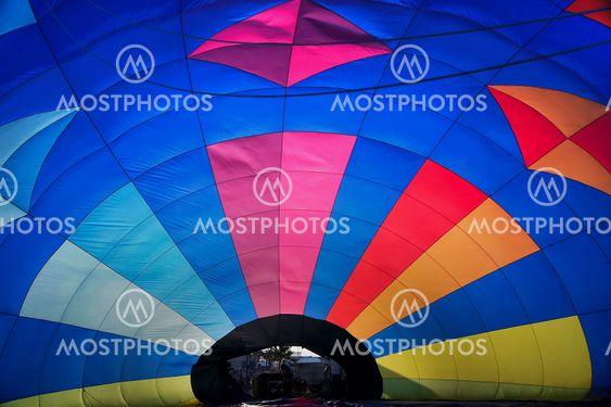 Hotair balloon from inside