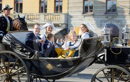 The swedish crown princess Victoria, princess Madelaine,...