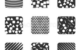 Square shapes seamless vector pattern - Vector