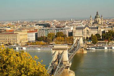 Old Chain Bridge in Budapest