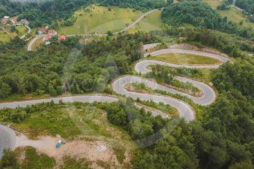 Serpentine road at Osilnica