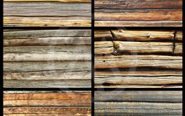 collection of textured wooden walls