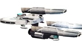 space ship on a white background