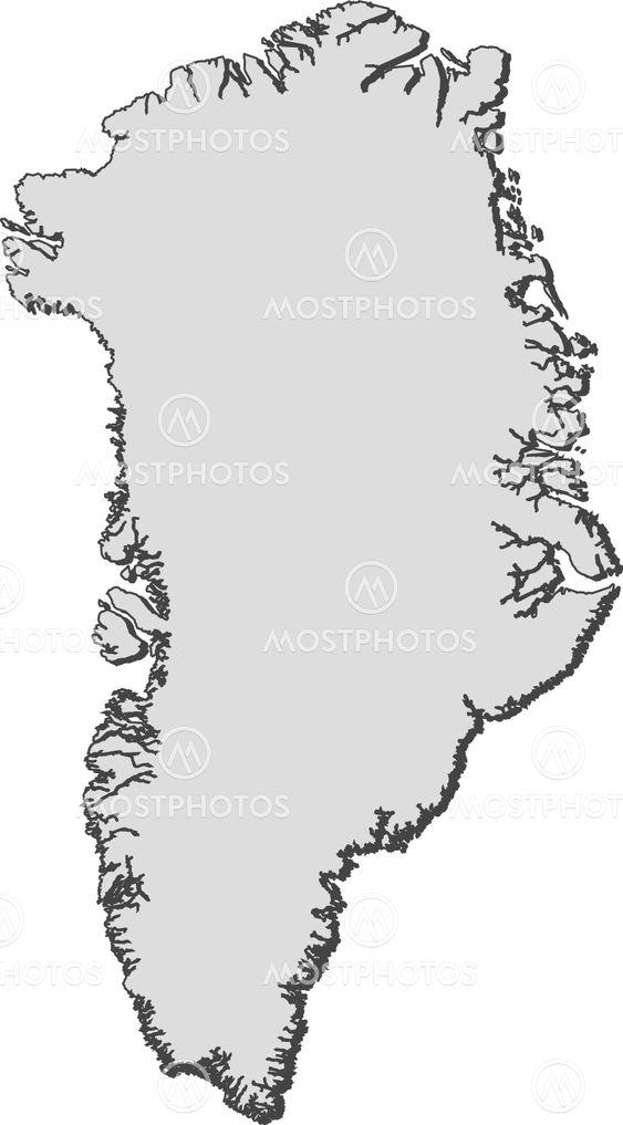 Steffen Hammer N Kuva Map Of Greenland Mostphotos
