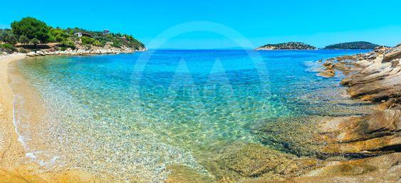Summer Sithonia coast, Chalkidiki, Greece.
