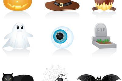 Icon set Halloween