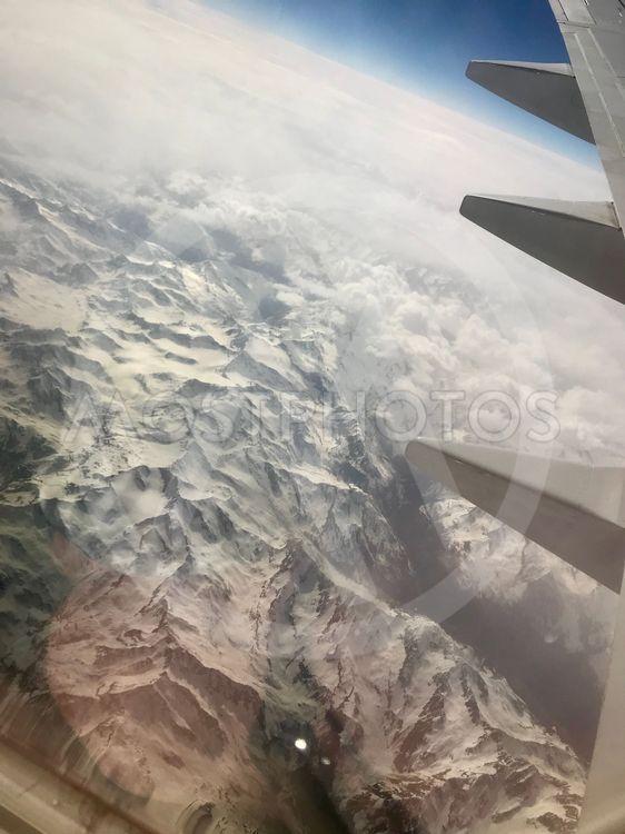 Berg frå flygplan