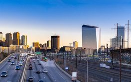 Philadelphia panorama sunset