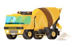 Concrete mixer truck. concrete machine truck. vector...
