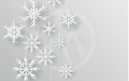 Christmas snowflake on paper