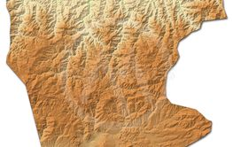 Relief map - Giresun (Turkey) - 3D-Rendering