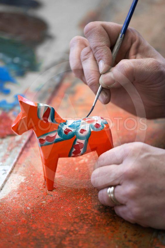 Dalahäst, dalahästtillverkning