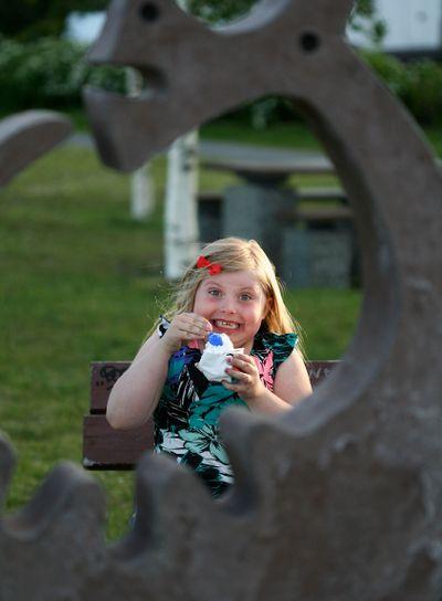 Girl with icecream