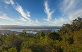 Nice landscape from Sunshine beach, Queensland, Australia