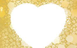 Golden Heart bokeh frame with copy space. EPS 8
