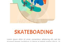 Extreme Teen Sport, Skateboarding and Skate Park