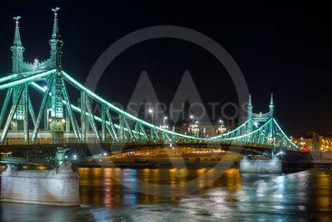 Liberty Bridge, Budapest by night