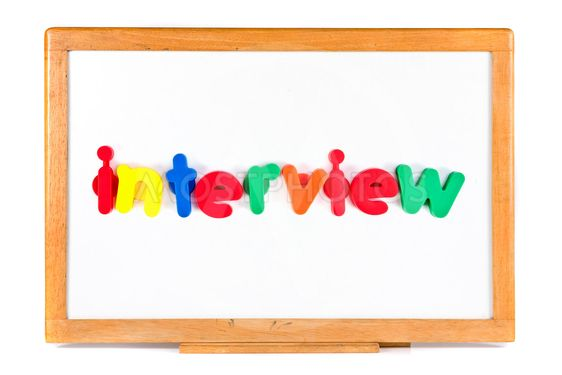 Interview text on whiteboard