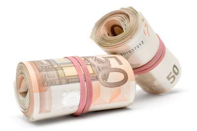 Two Rolls of Euro Bills