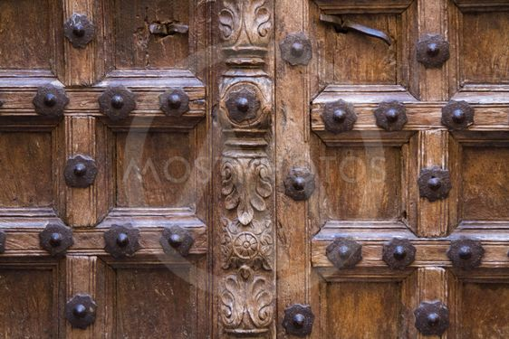 Old artfully crafted doorstep