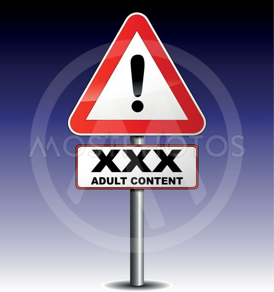 adult content signboard