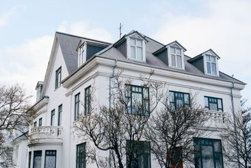 Beautiful old house in Reykjavik, the capital of Iceland.