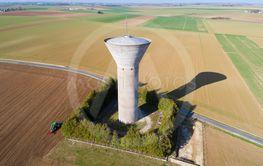 Water tank in Pithiviers-le-Vieil, Loiret, Centre-Val de...