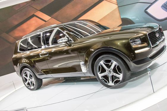 DETROIT - JANUARY 17 :The 2017 Kia Telluride concept at...