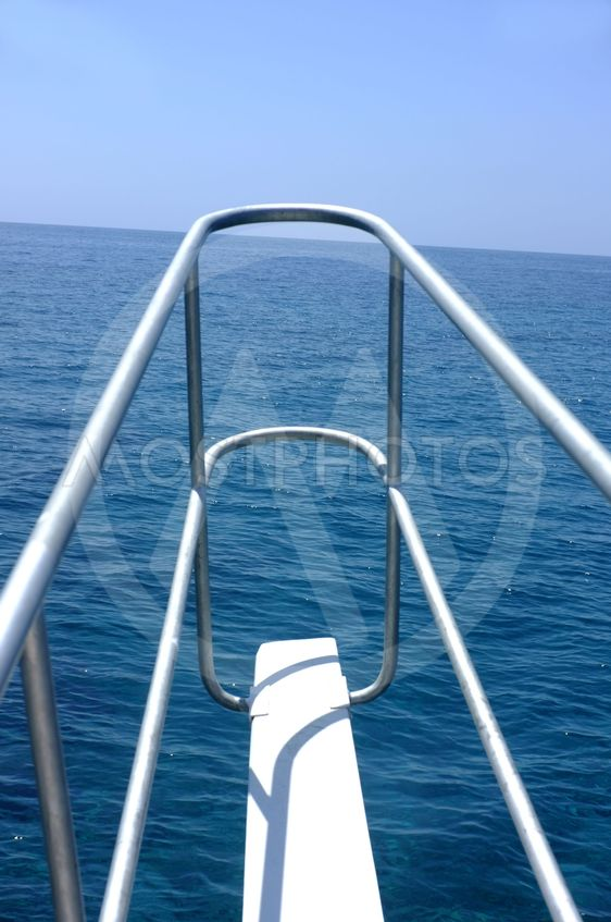Forward pulpit of a boat