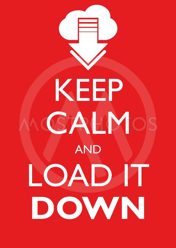 Poster Illustration Graphic Vector Keep Calm And Load It...