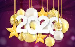2020 New Year and Merry Christmas Background. Vector...