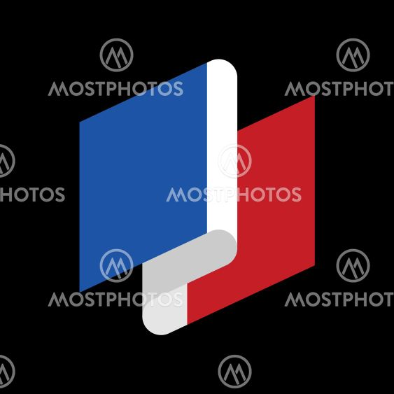 France Flag Ribbon Isolated By Popaukropa Mostphotos