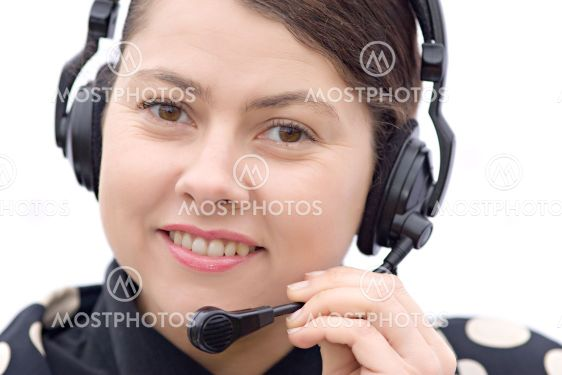 support center woman agent
