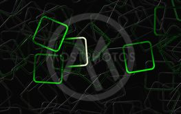 Abstract square panorama glass 3D background design...